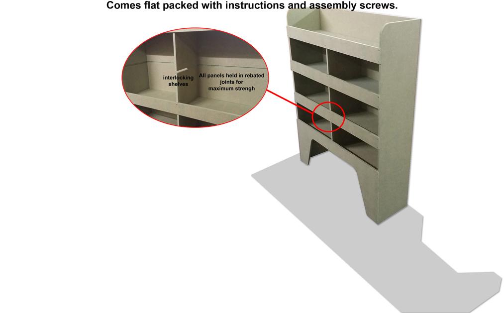 Vauxhall Movano Van Racking Racks Shelving Storage MGD-F